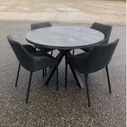 Couz spisebord Ø120 + 4 stole