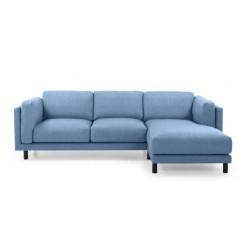 Couz 281 - blå bomuld/hør stof